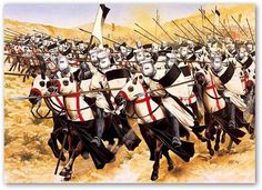 The Templar cavalry charge--I love this image, makes me want to make a Templar rig now.