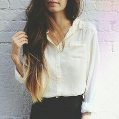 Subtle ombre for brunettes.. gorgeous.