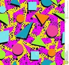 Retro 80s Seamless Pattern Background Stock Vector - Image: 57384482