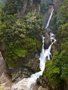 Ruta de las Cascadas, Baños, Ecuador- been there done that! I kinda miss this beautiful country