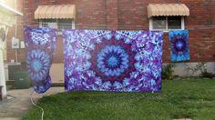 Twin Size Tie Dye Mandala Sheet Set 418 by TyeDyeBills on Etsy
