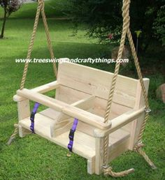 Wood tree swings, disc wooden tree swings, composite wood swings, seat style wood swings and tree swing hanging kits sold here. Your search is over for beautiful artisan crafted wood tree swings at great competitive prices. Toddler Playhouse, Kids Indoor Playhouse, Indoor Swing, Wooden Baby Swing, Wood Swing, Ideas Decorar Habitacion, Baby Swings, Tree Swings, Kids Swing
