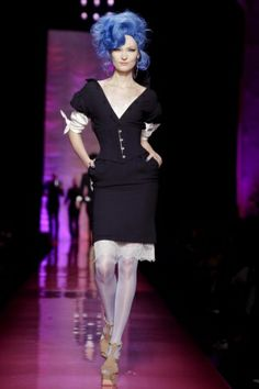 Pin Up Periwinkle hair  Jean Paul Gaultier Couture Spring Summer 2012 Paris