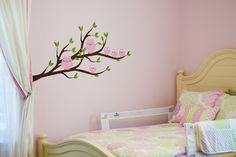 Cute ideas! Trace and color by number wall murals!