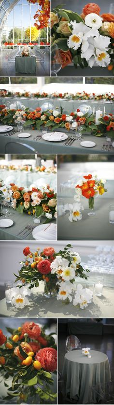 McKenzie Powell floral & event design | chihuly glass inspired | ranunculus, catalaya orchids, hosta, poppies