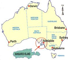 Map Of Australia Kangaroo Island.9 Exciting Kangaroo Island Images Kangaroo Island Tasmania