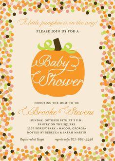 Fall Baby Shower Invitation DIY PRINTABLE by PolkaDotDesignShop