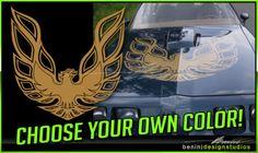 Pontiac-Firebird-Trans-Am-Hood-Bird-Custom-Decal-45-034-x45-034-All-Years-1-PIECE
