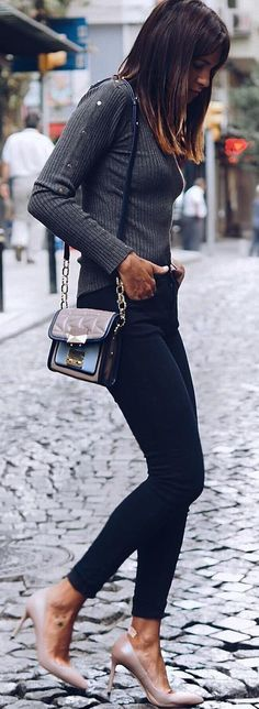 #fall #trending #outfits | Dark neutrals