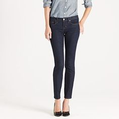 Ankle stretch toothpick jean in classic rinse