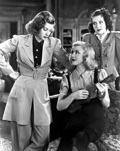 """Lucille Ball with Ginger Rogers & Ann Miller in """"Stage Door"""" I've been watching this film this week! I love TCM! there's a few other channels that shows these old movies too. Old Hollywood Glamour, Golden Age Of Hollywood, Vintage Hollywood, Hollywood Stars, Classic Hollywood, Old Hollywood Movies, Vintage Glam, Old Movie Stars, Classic Movie Stars"""