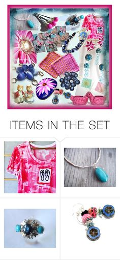 """""""Pinks & Blues"""" by riagr ❤ liked on Polyvore featuring art and vintage"""