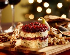Oscar party menu: stilton, port and walnut pate