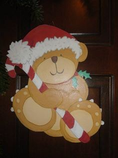 Christmas Bear - door decoration