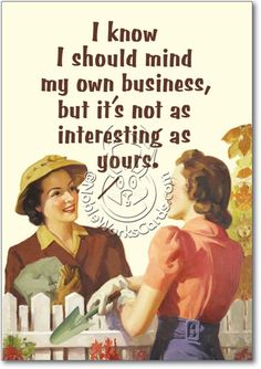 Mind My Business Unique Adult Humor Birthday Greeting Card Nobleworks