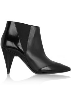 Pierre Hardy|Paneled leather ankle boots|NET-A-PORTER.COM