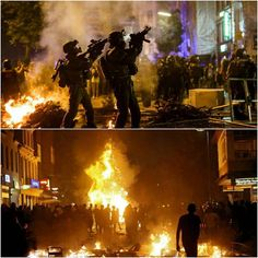 German police special forces (SEK)deploy to the city of hamburg in an attempt to regain control after protests turned violent. Austria also deployed their police special forces unit EKO Cobra to assist the german police.
