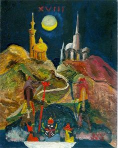 The Moon (Study for Tarot) by Aleister Crowley