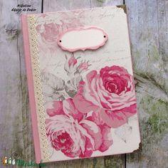 Rózsás esküvői napló, tervező, vendégkönyv, emlékkönyv - RENDELHETŐ (NikoLizaDekor) - Meska.hu Monogram, Google, Monograms