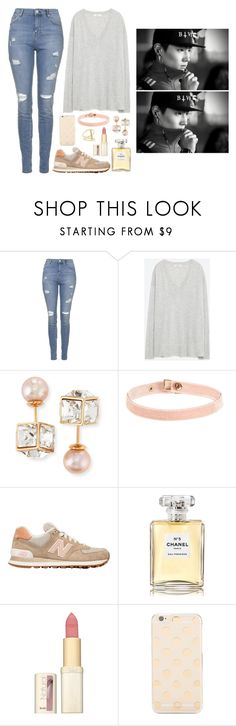 """""""Taking care of JB"""" by got7outfits ❤ liked on Polyvore featuring Topshop, Zara, Vita Fede, New Balance, Chanel, L'Oréal Paris, Kate Spade and Sydney Evan"""
