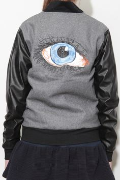 Storets In Your Eye Baseball Jacket soo freakin cool