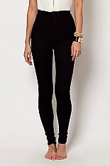 Super high waist fitted skinny jeans black from Love MelroseThese high waist hot pants feature smooth stretch jean fabric and two back pockets. These thin and stretchy pants are ideal for any occasion and can be dressed up or down. Wear with a loose crop top or our super low neck leotards! Also comesin light blue.68% COTTON30% POLYESTER2% SPANDEXMACHINE WASH COLDDO NOT BLEACH DO NOT WRINGTUMBLE DRY LOW