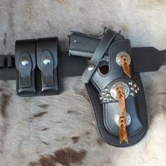 1911 Leather Holster, 1911 Holster, Holsters, Colt 1911, Hermes Oran, Belt, Leather Working, Tan Leather, Studs