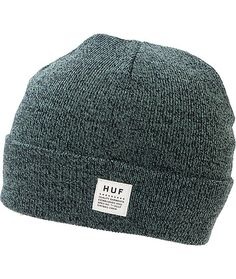 Update your hat collection with the speckled look of the HUF Mixed Yarn blue beanie. Stay warm in the acrylic constructed beanie with a fold-over cuff that sports a white HUF logo patch on a speckled mixed yarn blue colorway for a great look.
