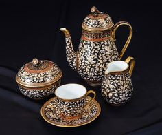 Imperial Benjarong handpainted bone china coffee service - available to purchase direct. www.imperialbenjarong.com