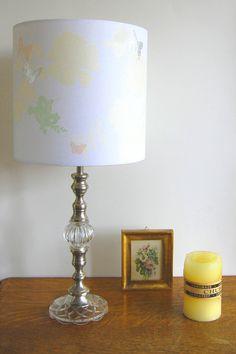 "Laura Felicity, Pretty Flower Lampshade, 9"" (h) x 9"" (dia), Antique Cream, £70.00, www.laurafelicity.bigcartel.com"