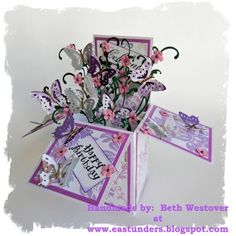 Purple Pop up Box card by eastunders - Cards and Paper Crafts at Splitcoaststampers