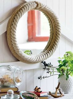 Nautical Rope Decor Ideas from the Book THE NAUTICAL HOME by Interior Designer Anna Örnberg: http://www.completely-coastal.com/2015/07/the-nautical-home-by-anna-ornberg.html