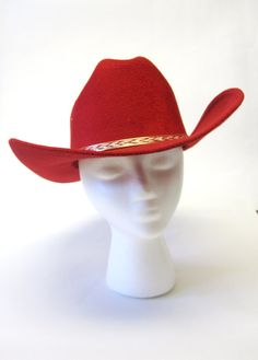 Red Cowboy Hat by sweetie2sweetie on Etsy, $21.99