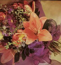 Purple and orange bouquet Making A Bouquet, Orange, Purple, Plants, Plant, Viola, Planets