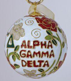 Alpha Gamma Delta Ornament