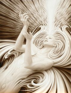 Angels are such beautiful beings with such love that their energy itself can bring too much truth to the person and as humans we are capricious creatures. They are the essence of purity.