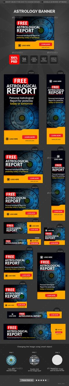 Astrology Banners Template #design Download: http://graphicriver.net/item/astrology-banners/12619099?ref=ksioks