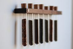 Test Tube Spice Rack by MeriwetherOfMontana on Etsy, $42.00