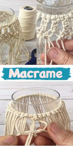 Macrame candle holder tutorial learn how to make macrame knots to cover a mason jar for home decor macrame masonjar macrameknots 35 diy pillowcases to make for any room Pot Mason Diy, Mason Jar Crafts, Mason Jars, Pickle Jar Crafts, Mason Jar Candle Holders, Candle Jars, Macrame Design, Macrame Projects, Macrame Knots