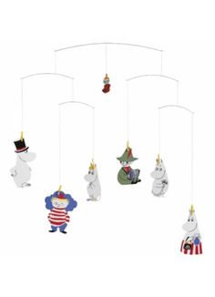 Flensted Mobiles Baby Nursery Mobile Moomin Valley x Gift Idea Danish Modern, Les Moomins, Moomin Shop, Moomin Valley, Tove Jansson, Thing 1, Baby Nest, Hanging Mobile, Creative