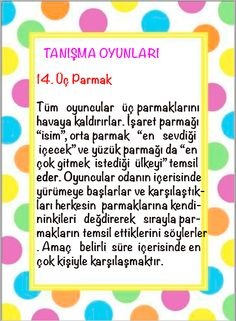 1. Sınıflar İçin İlk Günü Tanışma OYunları. Çİğdem Öğretmen Counseling Psychology, Ice Breakers, Reggio Emilia, First Day Of School, Games For Kids, Preschool, Teaching, Activities, Education