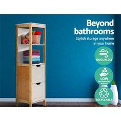 Delaney Tall Bathroom Cabinet - Online Only - Grey - Matt Blatt Toilet Storage, Locker Storage, Laundry Cupboard, Open Shelving, Shelves, Nook And Cranny, Bathroom Essentials, Floor Space, Shelving