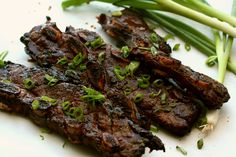 Korean Short Ribs are my favorite easy go to grill meal. They're impressive, they are tasty, and they are mighty pretty to look at. Rib Recipes, Grilling Recipes, Mexican Food Recipes, Cooking Recipes, Asian Recipes, Dinner Recipes, Asian Desserts, Asian Foods, Meals