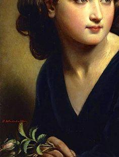 """Innocence"" (1845) (detail) by Hermann Winterhalter (1808-1891)."