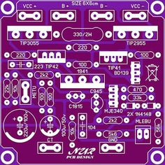 Sharing PCB Power Amplifier, Tone Control Speaker Protector, etc. You can see all about PCB Design of all around the world here: Electronic Circuit Projects, Electronic Kits, Valve Amplifier, Audio Amplifier, Audiophile, Diy Electronics, Electronics Projects, Layout Pcb, Circuit Board Design
