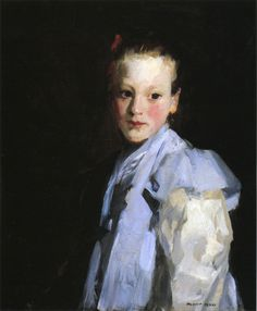 """""""Martche,"""" Robert Henri, 1907, oil on canvas, 23¼ x 20"""", private collection."""