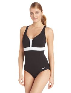 Speedo Women's Color Blocked Crossback Endurance+ Swimsuit, Black, 12 Speedo,http://www.amazon.com/dp/B00B53B4EC/ref=cm_sw_r_pi_dp_G56wtb1PC66TAV6X