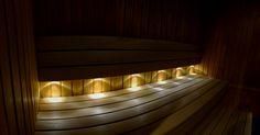 LED-lightning in the sauna. www.insauna.ee