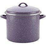 Paula Deen Enamel on Steel Covered Stockpot, 12 quart, Lavender Speckle