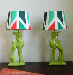 Per-i-does lamps. not sure I'm into the shades, but the lamps are pretty cool.